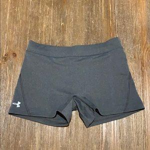 Under Armour grey spandex shorts (with bonus Nike)